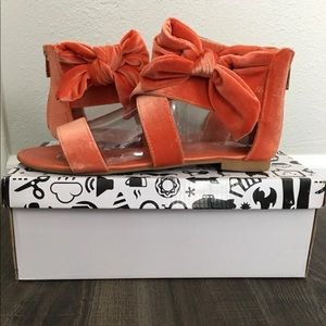 Orange Sandals with Bow